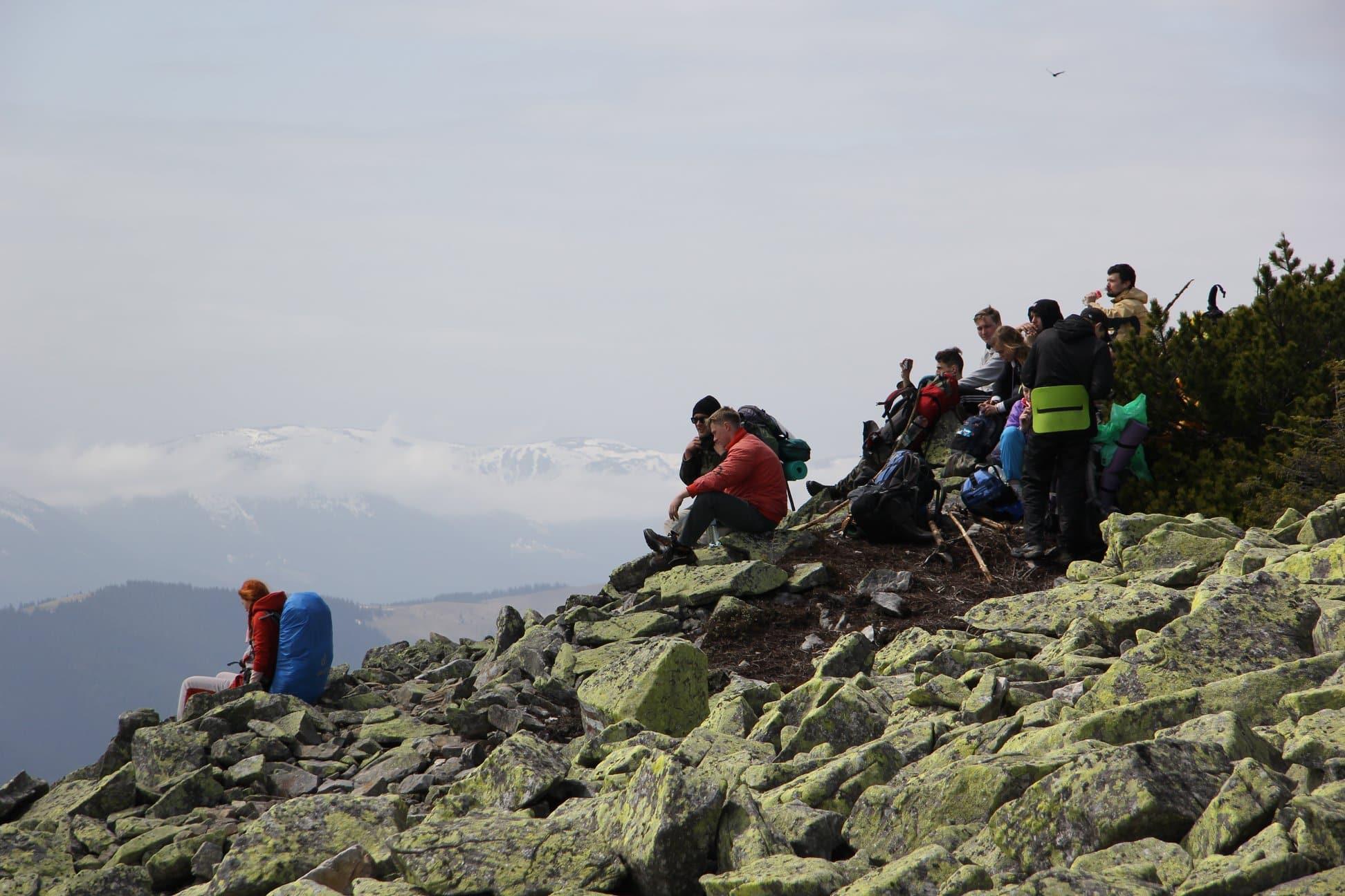 Поход Горганы вид с горы Хомяк
